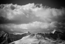 Black And White Mountain Lands...