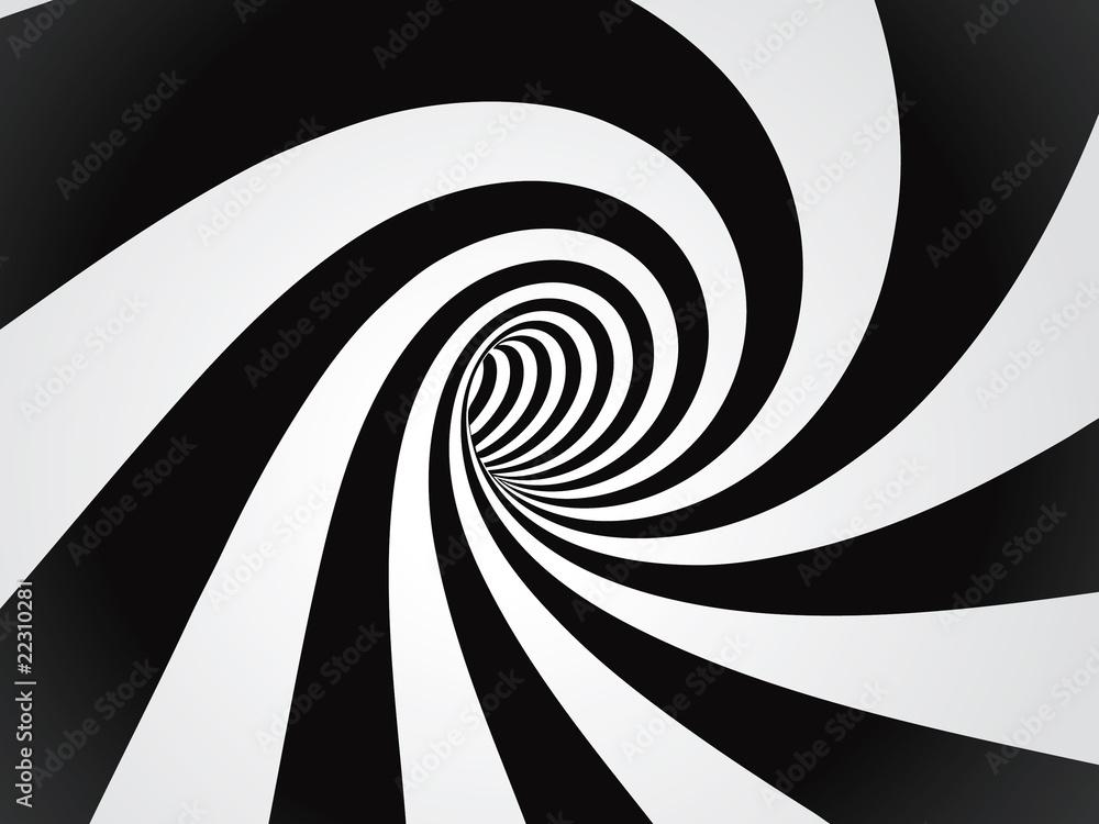 Fototapeta curved tunnel