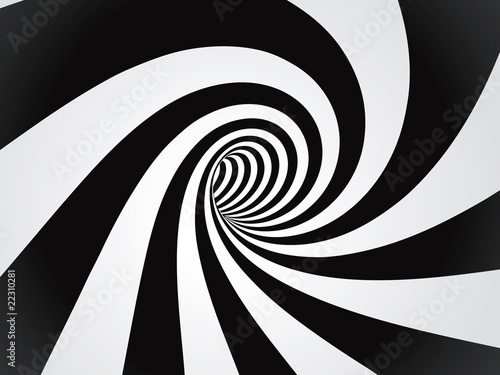 Obrazy powiększające wnętrze   do-salonu-czarno-biala-z-wirem
