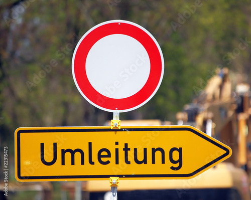 Fotografie, Obraz  Umleitung