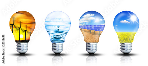 Obraz Ideensammlung - Erneuerbare Energien - fototapety do salonu