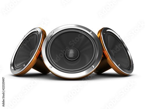 Photo  audio speakers