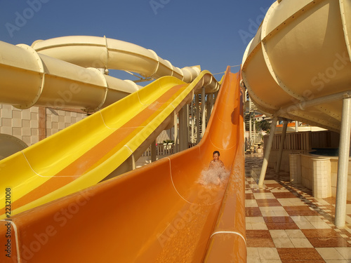Foto op Aluminium Arctica child on water slide