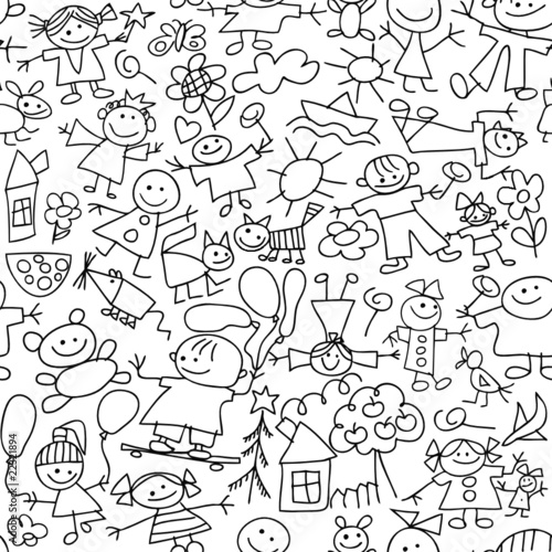 Children's drawing - seamless pattern #22321894