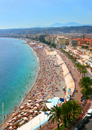 Spoed Foto op Canvas Nice Beautiful panorama of Nice, France