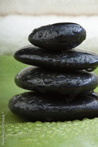 Spoed Foto op Canvas Zen wet hotstones