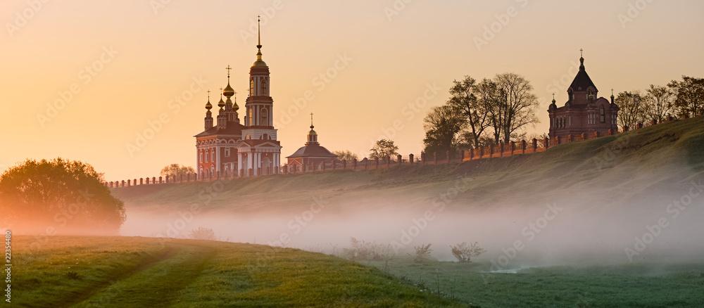 Fototapety, obrazy: Morning fog on Suzdal