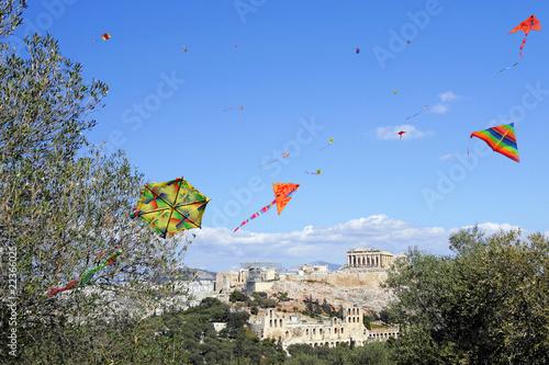 Kites at the Acropolis