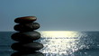 Zen rocks against ocean background - HD