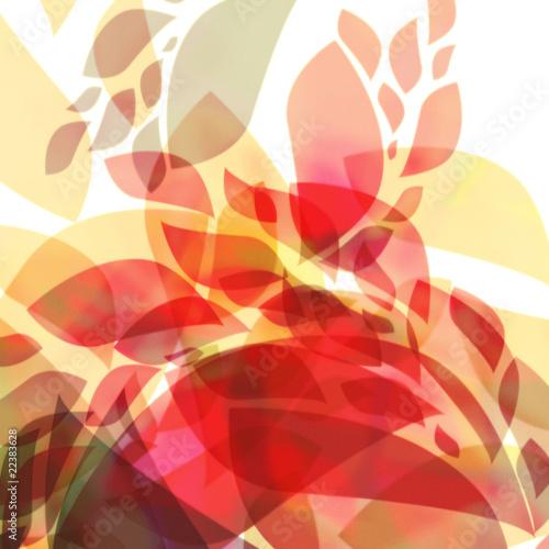 fototapeta na lodówkę Hojas abstractas