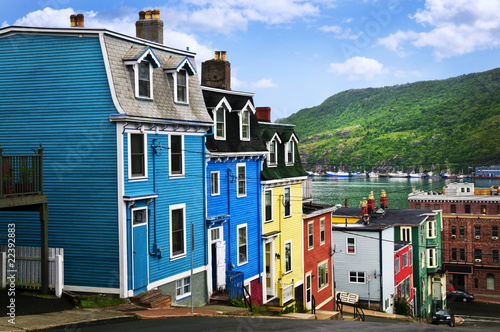 Canvas Print Colorful houses in St. John's