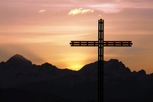 Cross And Mountains