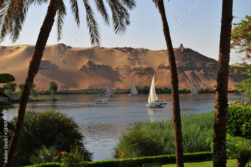 le nil à Assouan,egypte