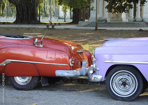 Türaufkleber Autos aus Kuba Belle américiane 4
