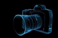 SLR Camera 3D Rendered Xray Bl...