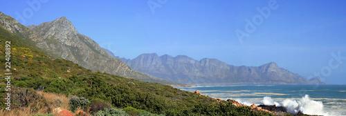 Clarence Drive Panorama, Gordons Bay, South Africa Wallpaper Mural