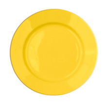 Yellow Plate Isolated On White