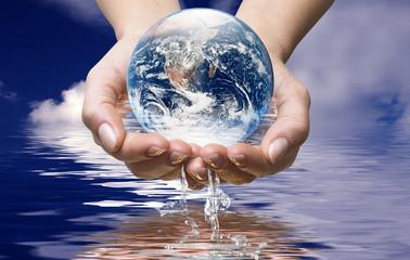 Świat w wodzie oceanu