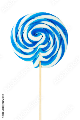 Fotografie, Obraz Colourful lollipop isolated on the white background
