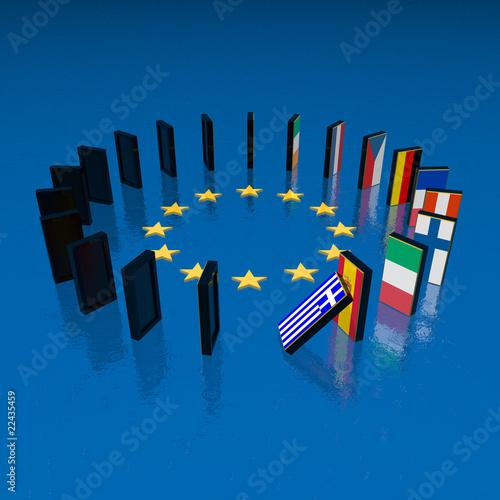 Fotografía  eupopean crisis domino effect