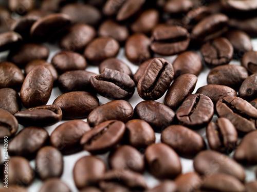 Fototapeta premium Ziarna kawy, wypełniając ramkę jako tło