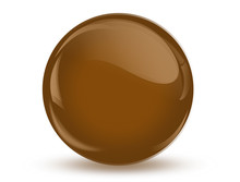 Ball Reflection ,3D Brown, Chocolate
