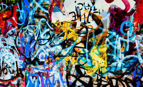Foto auf Leinwand Graffiti grafitti background