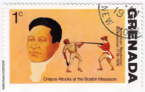 Photo Crispus Attucks in Boston Massacre