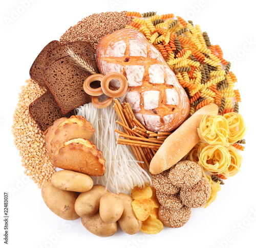 Fotografía  Bread and bakery products in the form of a circle