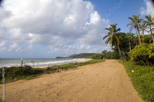 Foto op Canvas Tropical strand Long Bay Corn Island Nicaragua undeveloped beach