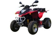 Red Quad Bike (ATV)  Isolated ...