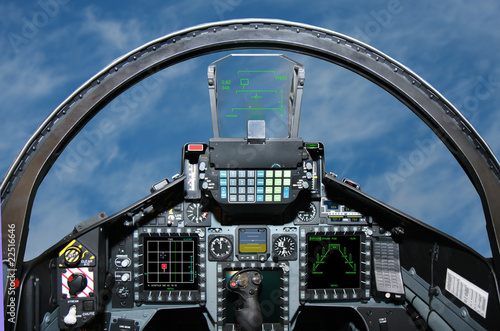 Fotografia Fighter Jet cockpit