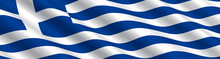 Greek Flag In The Wind