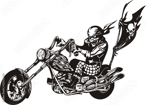 Crazy Biker. Canvas Print
