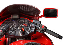 Dashboard Of A Sports Motorbike