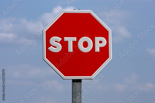 Photo Stop sign