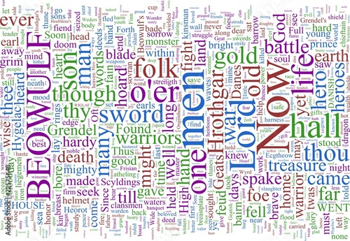 Word Cloud - Beowulf Poster