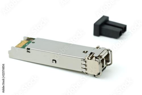 Fotografie, Obraz  Optical gigabit sfp module for network switch