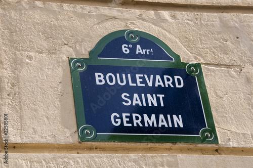 Fotomural Boulevard Saint-Germain - Paris