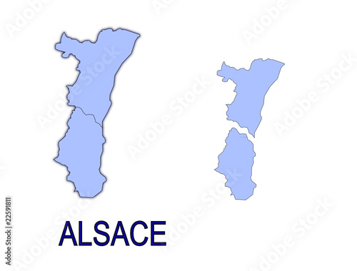 Carte Alsace Vector.Carte Region Alsace France Departements Contour Buy This