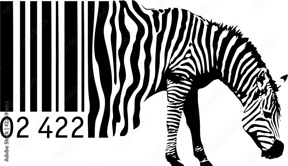 Fototapety, obrazy: Barcode Zebra