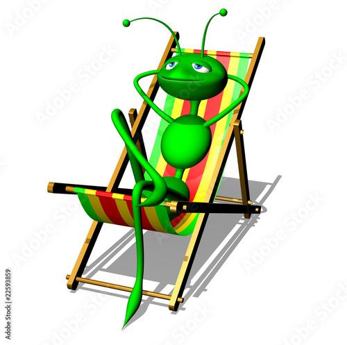 Fomica che si Abbronza al Sole-Ant in the sun tans-3d