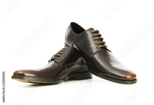Male Shoes Isolated On The White Background Buy This Stock