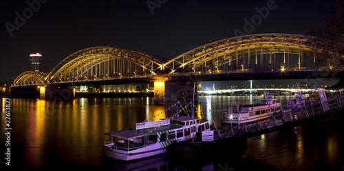 Keuken foto achterwand Bruggen Köln Hohenzollernbrücke