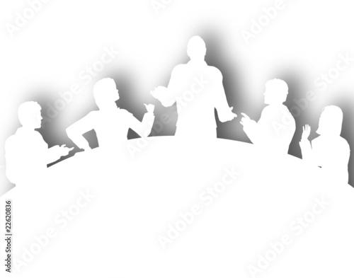 Fotografie, Obraz  Cutout meeting