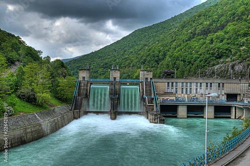 hydroelectric power-plant Fototapet