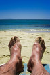 Nasse Füsse am Strand
