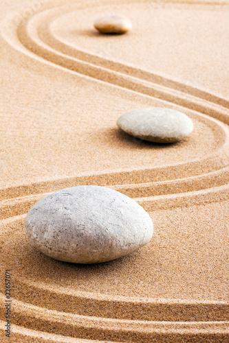 Photo sur Plexiglas Zen pierres a sable Concept zen