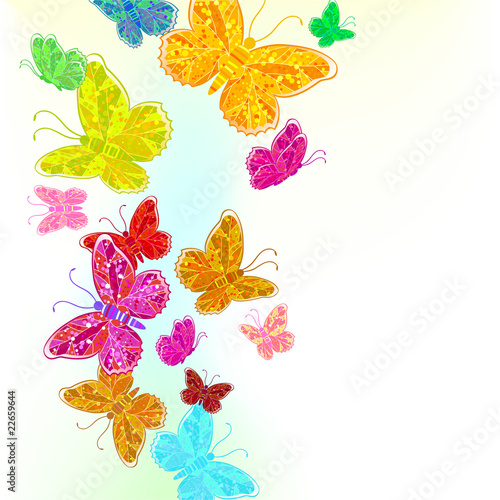 Tuinposter Creative abstract background. Creative abstract butterflies.