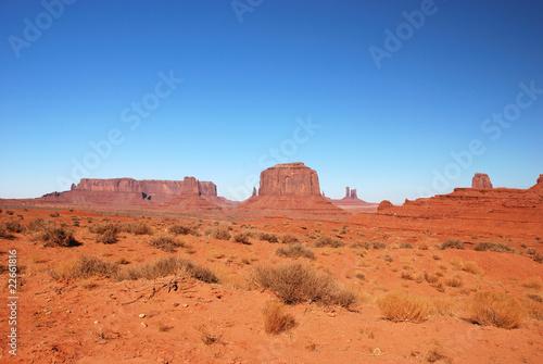 Deurstickers Oranje eclat Monument Valley